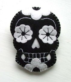 Day of the Dead Felt Skull