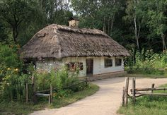 Picture of Small Ukrainian historical house (preceding century, museum of Ukrainian folk architecture in Pirogovo villlage (near Kiev)) stock photo, images and stock photography. Country Chic, Country Life, Country Homes, Wooden Architecture, Ukrainian Art, Unusual Flowers, Historic Homes, Traditional House, Gazebo
