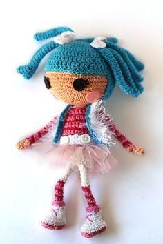 Crochet PATTERN Lalaloopsy Mittens doll Amigurumi doll by TomToy