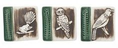 Set of 3 NZ Bird Wall Tiles - set, bird, wall, tiles, new, zealand, native, ... - Shopenzed.com