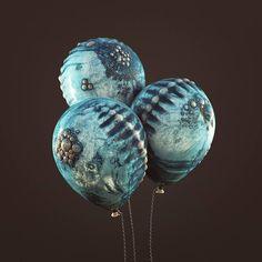 #embryos #cinema #c4d #cinema4d #octane #render #octanerender #photoshop #daily #3d #graphics #gfx #graphic #design #abstract #art #surreal #scifi #studio #animal #balloon #blue #realistic #alien #spine #sculpture #chain #organic #rsa_graphics by hoodass