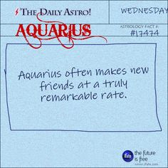 Aquarius 17474: Visit The Daily Astro for more facts about Aquarius. Come take a look at the entertaining uniquely-aquarius reading on this neat website.