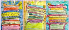 I love this art project!! Princess and the Pea, Fairytales.