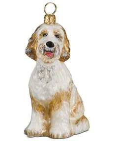 Joy to the World Christmas Ornament, Goldendoodle
