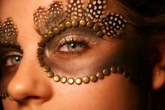 Inspiration... African tribal make up and owls by charlotte.harkness, via Flickr