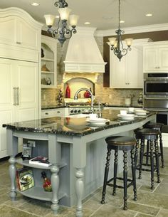kitchen island design and color
