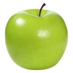 "Decorative Plastic Green Apple, 3"""