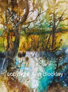 Ann Blockley Artist | Teasels by the pond' copyright Ann Blockley