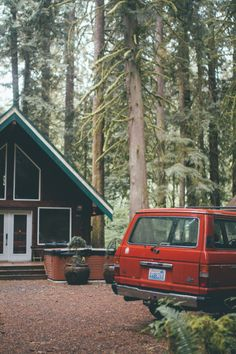 by Fursty cabin forest landcruiser landscape lifestyle northwest outdoors pacific northwest toyota trees vinta Cabana, Haus Am See, Camping Photography, Cozy Cabin, Cabin Homes, Cabins In The Woods, Interior Exterior, Adventure Is Out There, Bushcraft