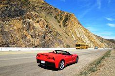 Chevrolet Corvette Convertible. Pacific Coastal Highway. Tracktest: http://www.neuwagen.de/fahrberichte/3766-chevrolet-corvette-stingray-cabriolet-more-than-a-feeling.html