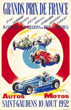 Jean des Gachons, Grands Prix de France, 1952