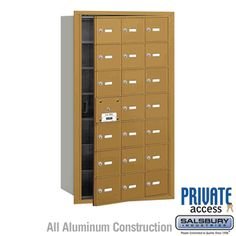 Salsbury Industries Commercial Horizontal Mailbox 21 A Door 20 Usable Front Loading USPS Access Wall Mount Mailbox, Mounted Mailbox, Commercial Mailboxes, Post Box Wall Mounted, Tall Cabinet Storage, Locker Storage, Security Mailbox, Continuous Hinges, Mail Center
