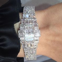 #christiesjewels #vacheron #diamondwatch Diamond watch by Vacheron... So sparkly you can hardly see the time :-))) Hong Kong Magnificent Jewels 11.29.2016