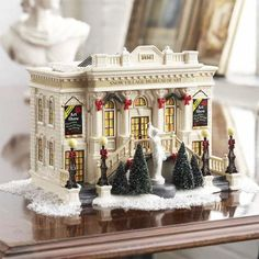 Image detail for -Dept 56 The Original Snow - - Department 56 Snow Village Museum Of Art Christmas In The City, Christmas Town, Beautiful Christmas, All Things Christmas, Vintage Christmas, Christmas Holidays, Christmas Mantles, Grinch Christmas, Silver Christmas