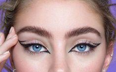 Makeup Eye Looks, Creative Makeup Looks, Sexy Makeup, Gorgeous Makeup, Bottom Eyeliner, Cat Eye Eyeliner, No Eyeliner Makeup, Glitter Eyeliner, Cat Eyeliner Tutorial