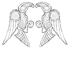 huginn and muninn depictions archeology - Google Search