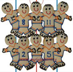 Hockey Player Sugar Cookies