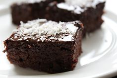 Gezonde brownie met courgette en dadel