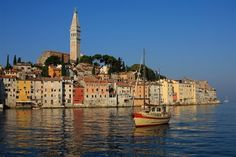 The Mediterranean town of Rovinj, Croatia (formerly part of Italy).
