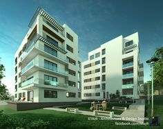 Architecture visualization and interior design renderings for a residential complex in Floresti, Cluj, Romania // Visualization by ETAJ4