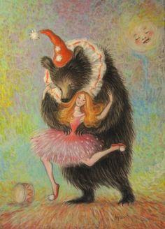 Henna Takkinen - a girl and dancing bear