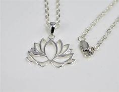 Lotus Pendant with CZ stone