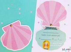 carte invitation anniversaire sirene Anniversaire Hello Kitty, Printable Invitations, Birthday Invitations, Happy Birthday, Lily, Activities, Party, Crafts, Recherche Google
