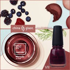 Wrap your nails in this subtly seductive shade with China Glaze® VII, a velvet port wine crème.  (Photo Courtesy of PANTONE.com)