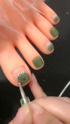 Pretty Nail Art, Cute Nail Art, Nail Art Diy, Nail Art Designs Videos, Nail Designs, Nagellack Design, Bling Acrylic Nails, Fire Nails, Minimalist Nails