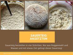 Der Artikel beschreibt genau wie man aus Roggen Sauerteig herstellen kann. In vier Schritten vom Mehl zum fertigen Roggen-Sauerteig!