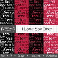 "FREE ""I Love You Beer""  #freebie Valentine paper"
