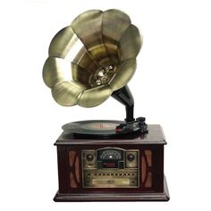 Back to the 50's Executive Antique Trumpet Horn Turntable/Phonograph