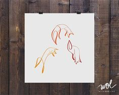 orange line drawing on left Minimal Fox Art One Line Print Handmade Calligraphy Fox Drawing, Line Drawing, Drawing Ideas, Mehndi, Line Art Tattoos, Fox Tattoos, Tatoos, Woodland Animal Nursery, Silhouette Tattoos