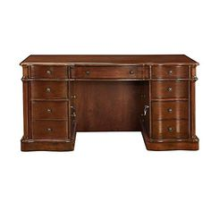 cool Westfield Executive Desk, Chestnut 578595 DSK-12005