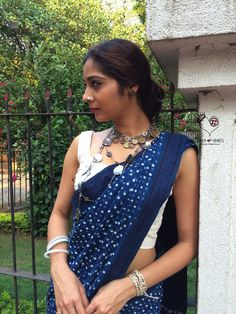 Malkha sarees woven in 35 count mul/khadi cloth hand block printed in Rajasthan. You have to wear this cloth to believe it's comfort and feel. Our favourite Indian cloth. Lasts forever and so easy to maintain. An absolutely original look. To know more about Malkha click on: http://malkha.in/about-malkha Colour: Natural Dyes. Slight difference in colour from the visible product image is possible. Care: DRY CLEAN ONLY.