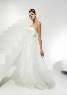 Strapless Sweetheart Neckline  Empire Waist Silhouette Wedding Dress ...less than $100.00