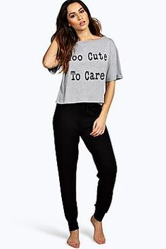 Boohoo: Ella Too Cute PJ Trouser Set