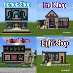 Minecraft Shops, Minecraft Farm, Cute Minecraft Houses, Minecraft Plans, Minecraft House Designs, Minecraft Construction, Amazing Minecraft, Minecraft Tutorial, Minecraft Blueprints