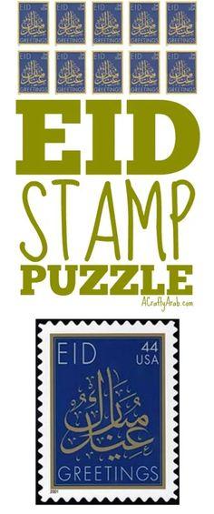 "Eid Stamp Puzzle {Resource} by A Crafty Arab I've created a fun Eid Mubarak puzzle to put together. Eid Mubarak (Arabic: عيد مبارك) is a term that means ""blessed feast/festival"". Eid Eid, Muslim Culture, Ramadan Crafts, Eid Al Fitr, Time To Celebrate, Eid Mubarak, Craft Tutorials, Blessed, Puzzle"
