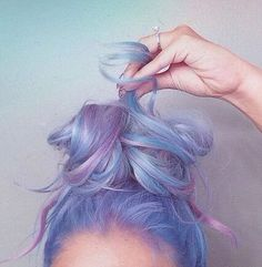 Pastel baby pink, blue, and lavender.