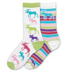 FBF Moose Mismatch Socks