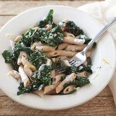 Great use for my extra ricotta cheese and easy! Penne with Ricotta Cheese and Greens | Williams-Sonoma