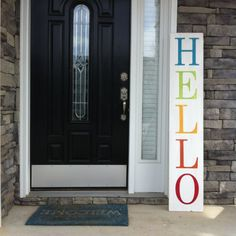 Large Welcome Sign. Hello Sign. Oversized by TheArtAndSoulShop
