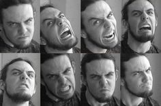 Angry Expressions - Male Face -