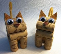 Cork Animals - Kristina Seekamp Schaaf- just found the Christmas gift for my boyfriends mom!