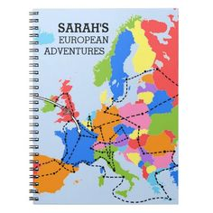 Fun Colorful Personalized European #Travel #Journal