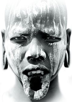 Mursi tribe woman. Ethiopia