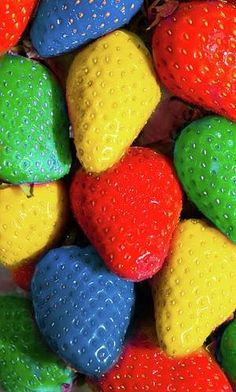 Bright Colored Strawberries. Can you imagine?