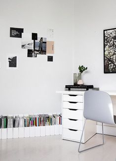 The Minimalist Home x magazine storage.  Also love the little drawers for makeup storage and the like.
