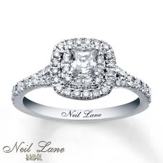 The manager at Kay had me try this on and now it is all I could think about. *sigh* Neil Lane Engagement Ring 1 ct tw Diamonds 14K White Gold